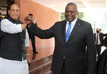 Defence Minister Rajnath Singh (left) and the visiting US Defence Secretary Lloyd Austin | Ministry of Defence