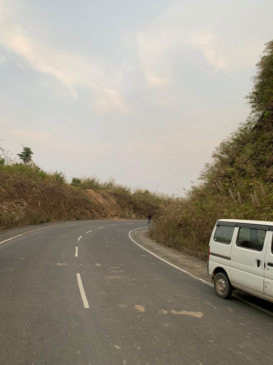 One of the completed stretches of road between Zorinpui and Lawngtlai | Amrita Nayak Dutta | ThePrint