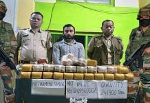 A massive methamphetamine haul worth nearly Rs 12.10 crore seized last week by Assam Rifles   By special arrangement