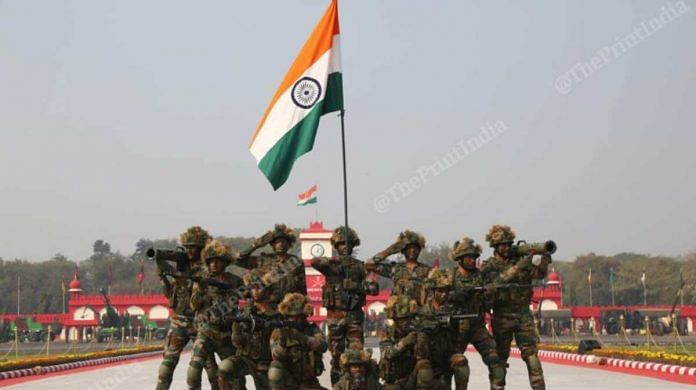 Representational image | Army personnel during the Army Day parade | Photo: Suraj Singh Bisht | ThePrint File Photo