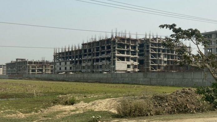 The under-construction medical college and hospital in Nalbari. | Photo: Ruhi Tewari/ThePrint