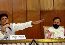 Union ministers Piyush Goyal and Prakash Javadekar address a media briefing about the Cabinet decisions taken Wednesday | Suraj Singh Bisht | ThePrint