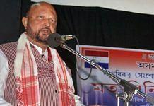 A file photo of former Assam chief minister Prafulla Kumar Mahanta. | Photo: ANI