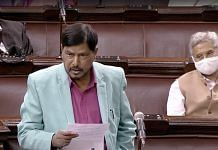 A file photo of Minister of State for Social Justice and Empowerment Ramdas Athawale. | Photo: ANI