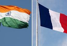 Representational image of Indian and French flags | Wikimedia Commons