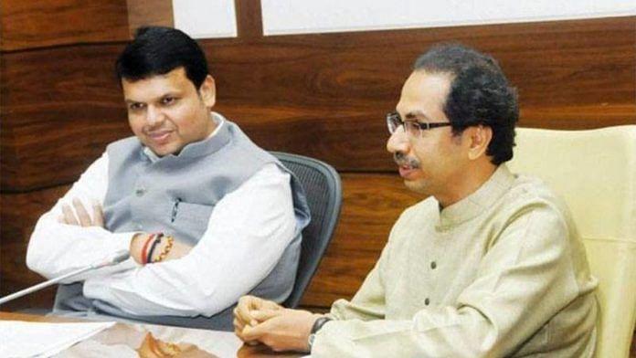 A file image of Maharashtra CM Uddhav Thackeray with BJP leader Devendra Fadnavis | Photo: Facebook/Shiv Sena