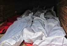 Dead bodies being carried in a truck from a mortuary in Raipur on 14 April. | Photo: Suraj Singh Bisht/ThePrint