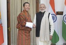 PM Narendra Modi with his Bhutanese counterpart Lotay Tshering (file photo) | PTI