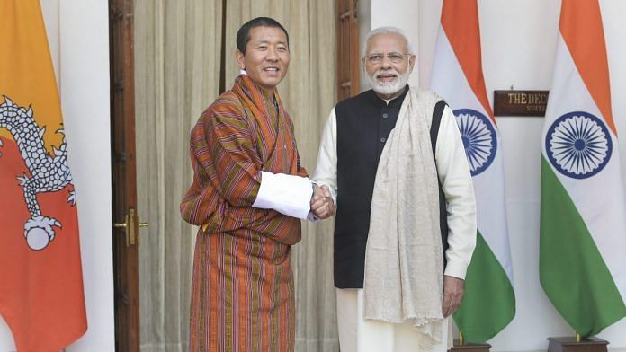 PM Narendra Modi with his Bhutanese counterpart Lotay Tshering (file photo) | PTI