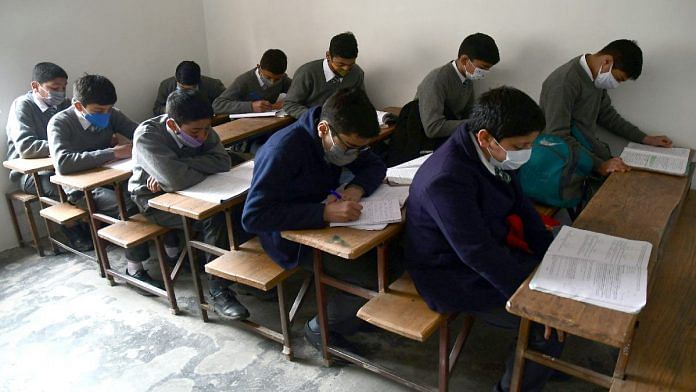 Representational image of students at a Kashmir school | ANI