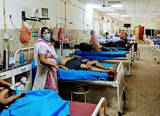 Covid patients at a Varanasi hospital | Representational image | ANI