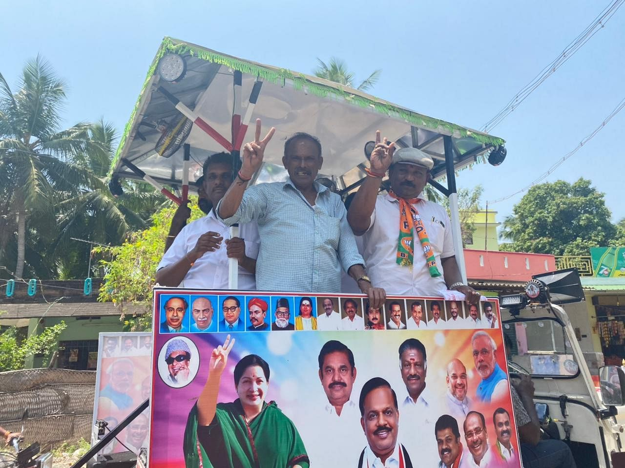 AIADMK workers during the rally in Thovalai. | Photo: Revathi Krishnan/ThePrint