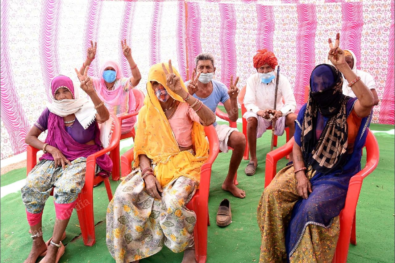 Villagers after receiving their vaccine dose at the vaccination centre in Jalindri. | Photo: Rohit Jain Paras/ThePrint