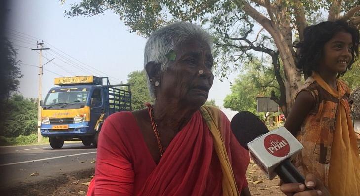 Lakshmi, a resident of Reddiarchatram, who wanted voting advice | Photo: Revathi Krishnan/ThePrint