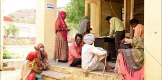 The tribal population of Rajasthan has also kept its apprehension aside and is coming forward to get vaccinated against Covid-19.   Photo: Rohit Jain Paras/ThePrint