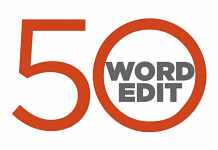 50 word edit logo
