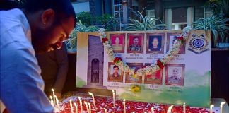 File photo | Students light candles to pay tribute to soldiers, who were killed in the encounter with Naxals in Chhattisgarh | PTI