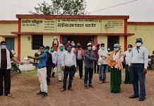 Health department officials at Majhgaon village in Chhattisgarh's Bemetara district   By special arrangement