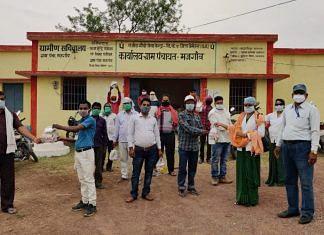 Health department officials at Majhgaon village in Chhattisgarh's Bemetara district | By special arrangement