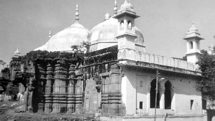 The Gyanvapi Mosque is built allegedly on the remains of a previous iteration of the Kashi Vishwanath Temple in Varanasi   Photo: Commons