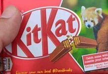 The KitKat wrapper that wrongly showed the location of Keibul Lamjao National Park in Meghalaya | Twitter | @LicypriyaK