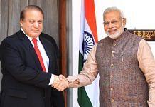 Former Pakistan PM Nawaz Sharif with PM Narendra Modi in New Delhi in 2014 | Flickr