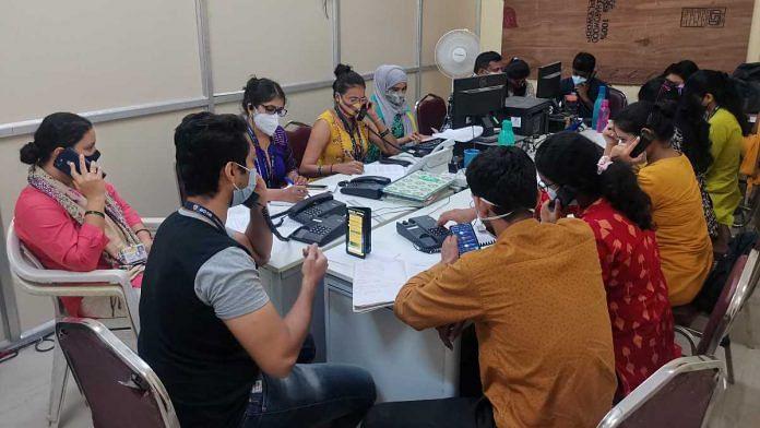 People man Room 4 of the Brihanmumbai Municipal Corporation's G North Ward Covid war room, in Mumbai | Angana Chakrabarti | ThePrint