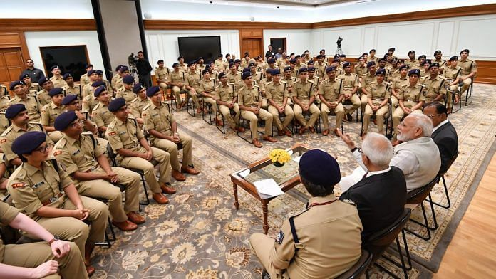 Representational image   Narendra Modi with 2018 batch of IPS officers   Twitter