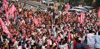 Energy Minister G. Jagadish Reddy's roadshow in Nakreka, Nalgonda district of Telangana earlier this week | Source: TRS
