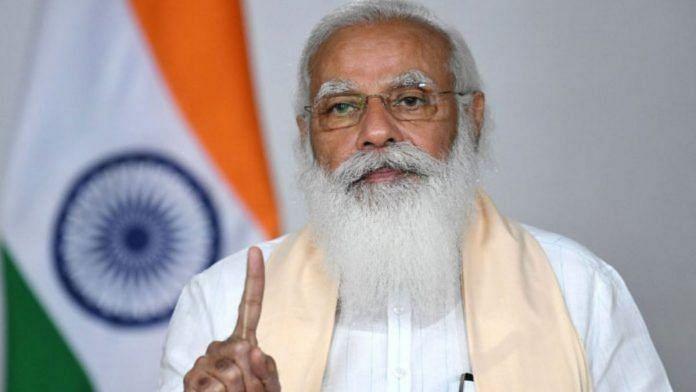PM Narendra Modi addresses the nation on Covid-19, on 20 April 2021   PIB