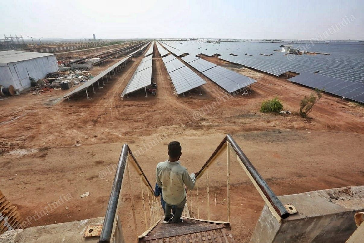 The solar park at Charanka in Gujarat now has a capacity to generate over 600 MW | Praveen Jain | ThePrint