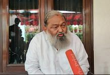 Haryana's Home and Health Minister Anil Vij in Ambala | Photo: Urjita Bhardwaj | ThePrint