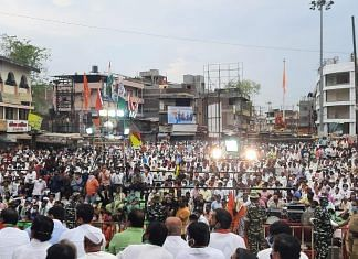 An NCP rally at Pandharpur ahead of the bypoll | Twitter/@Jayant_R_Patil