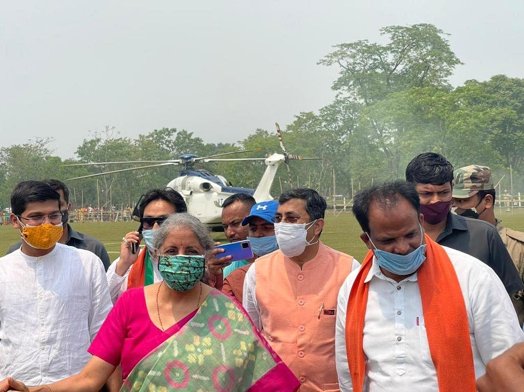 Alipurduar MP John Barla (right) with Union Finance Minister Nirmala Sitharaman | By special arrangement