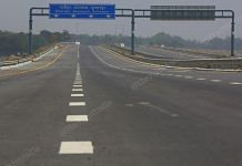 One of the four expressways under construction in UP | Photo: Suraj Singh Bisht/ThePrint