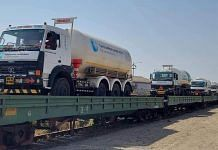 The trains carrying the oxygen tankers | Twitter/@RailMinIndia