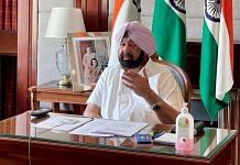 Punjab Chief Minister Amarinder Singh during a meeting on Covid management on 30 April. | Photo: Twitter/@capt_amarinder
