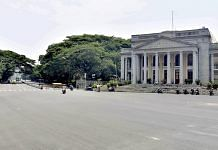 Town hall circle during weekend curfew in Bengaluru, on 24 April 2021 | PTI Photo