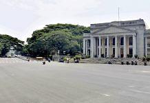 Town hall circle during weekend curfew in Bengaluru, on 24 April 2021   PTI Photo