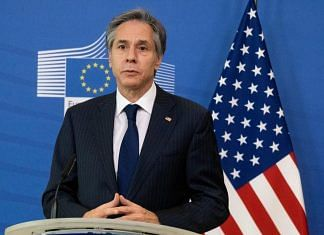 File photo of Antony Blinken, US Secretary of State, at a news conference in Brussels, Belgium   Photo: Bloomberg