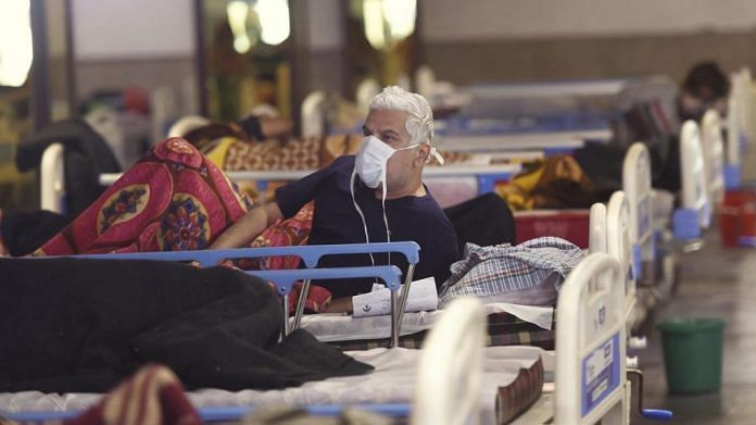 Patients at a Covid care centre in Delhi | For representational purpose only | PTI