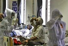 Representational image of patients at a Covid treatment facility | Praveen Jain | ThePrint file photo