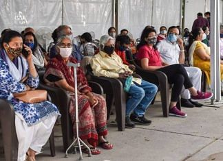 People waiting to be be vaccinated at a clinic in Delhi | Representative Image | PTI