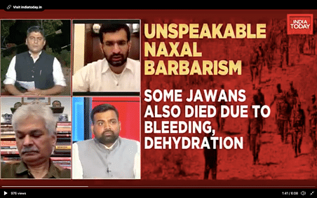 India Today anchor Gaurav Sawant during a primetime debate
