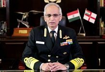 A file photo of Indian Navy chief Admiral Karambir Singh.   Photo: ANI