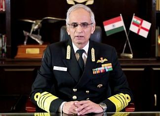 A file photo of Indian Navy chief Admiral Karambir Singh. | Photo: ANI