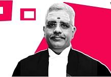 Madras High Court Justice N. Anand Venkatesh. | Illustration: Soham Sen/ThePrint