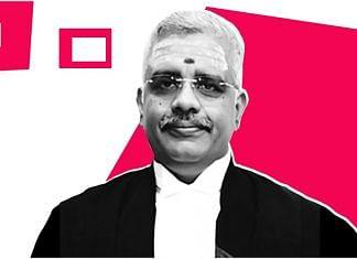 Madras High Court Justice N. Anand Venkatesh | Illustration: Soham Sen/ThePrint