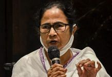 West Bengal CM Mamata Banerjee during a press conference in Siliguri on 10 April 2021 | PTI Photo