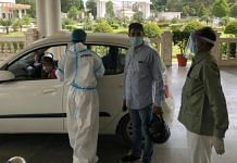 A Covid patient's oxygen level being checked at Mayo hospital in Barabanki, Uttar Pradesh | Jyoti Yadav | ThePrint